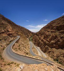 Top view of the R704 road, Boumalne Dades, Morocco
