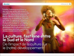 Conférence n'GO: Lukas Pairon sur «L'impact de l'art et de la culture sur le développement»